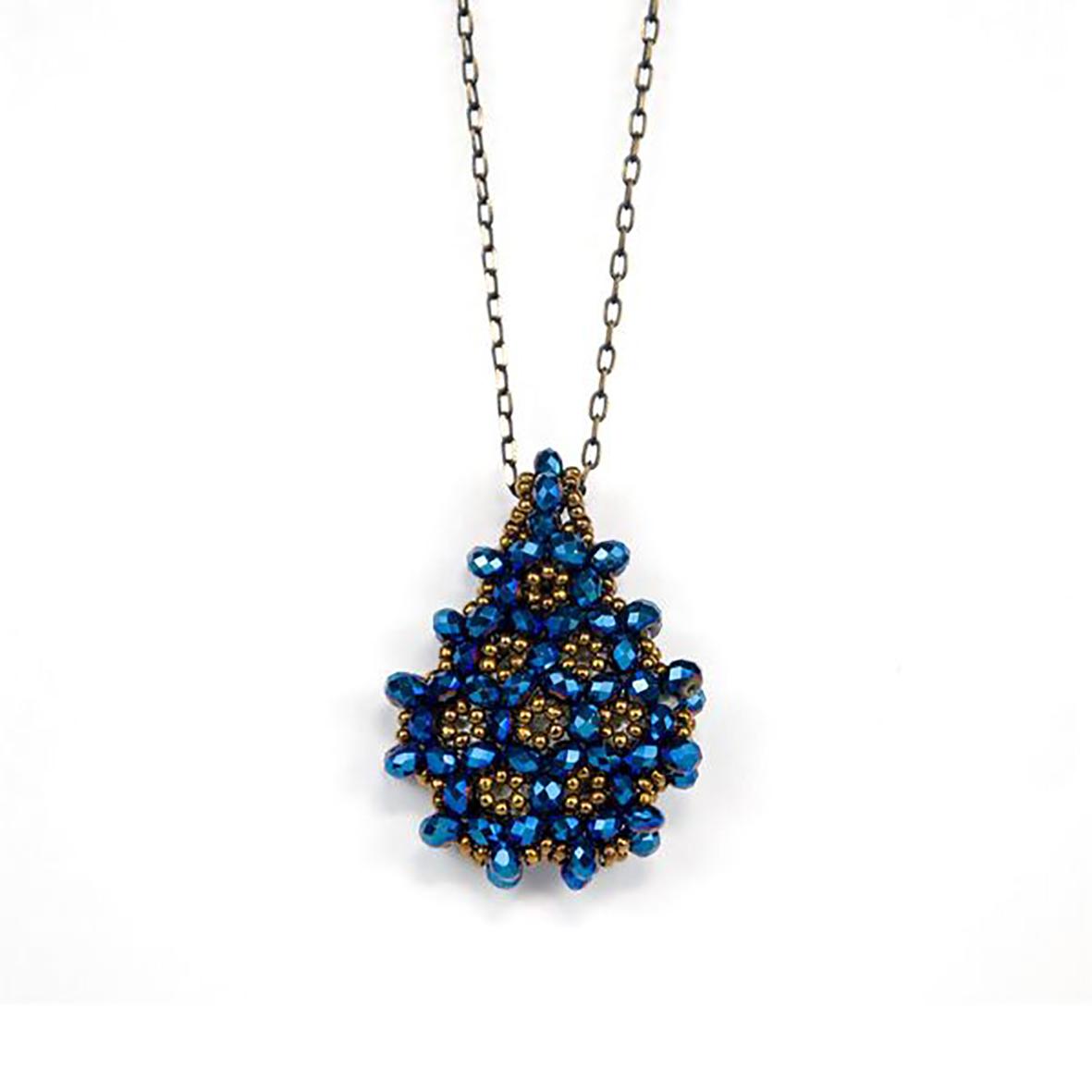 Perlenkette Cevsen (Wassertropfen - Blau)