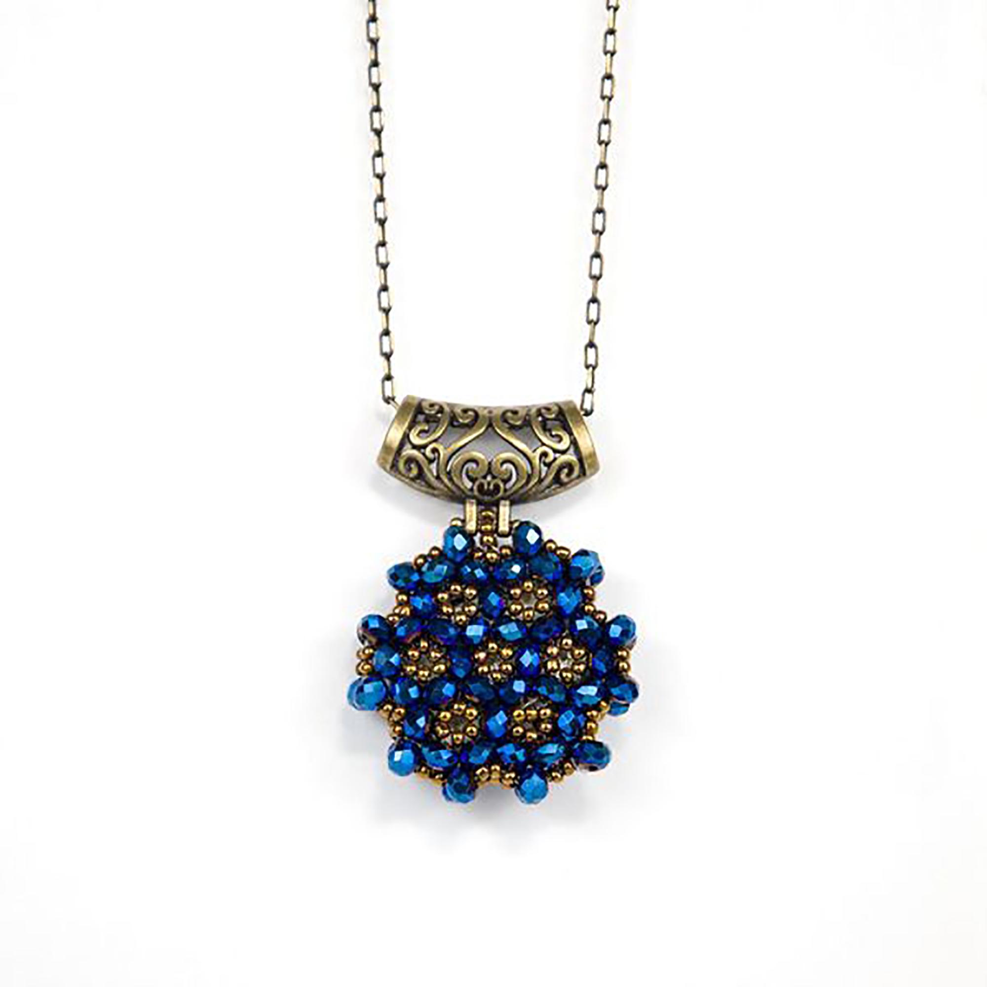 Perlenkette Cevsen (Rund - Blau)