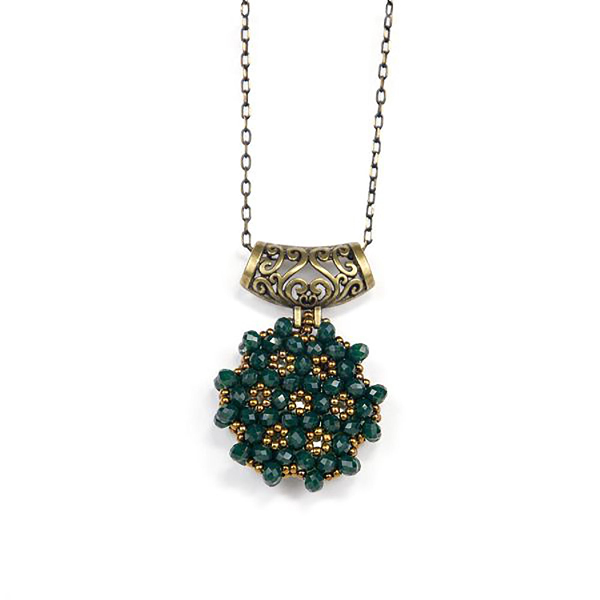 Perlenkette Cevsen (Rund - Grün)