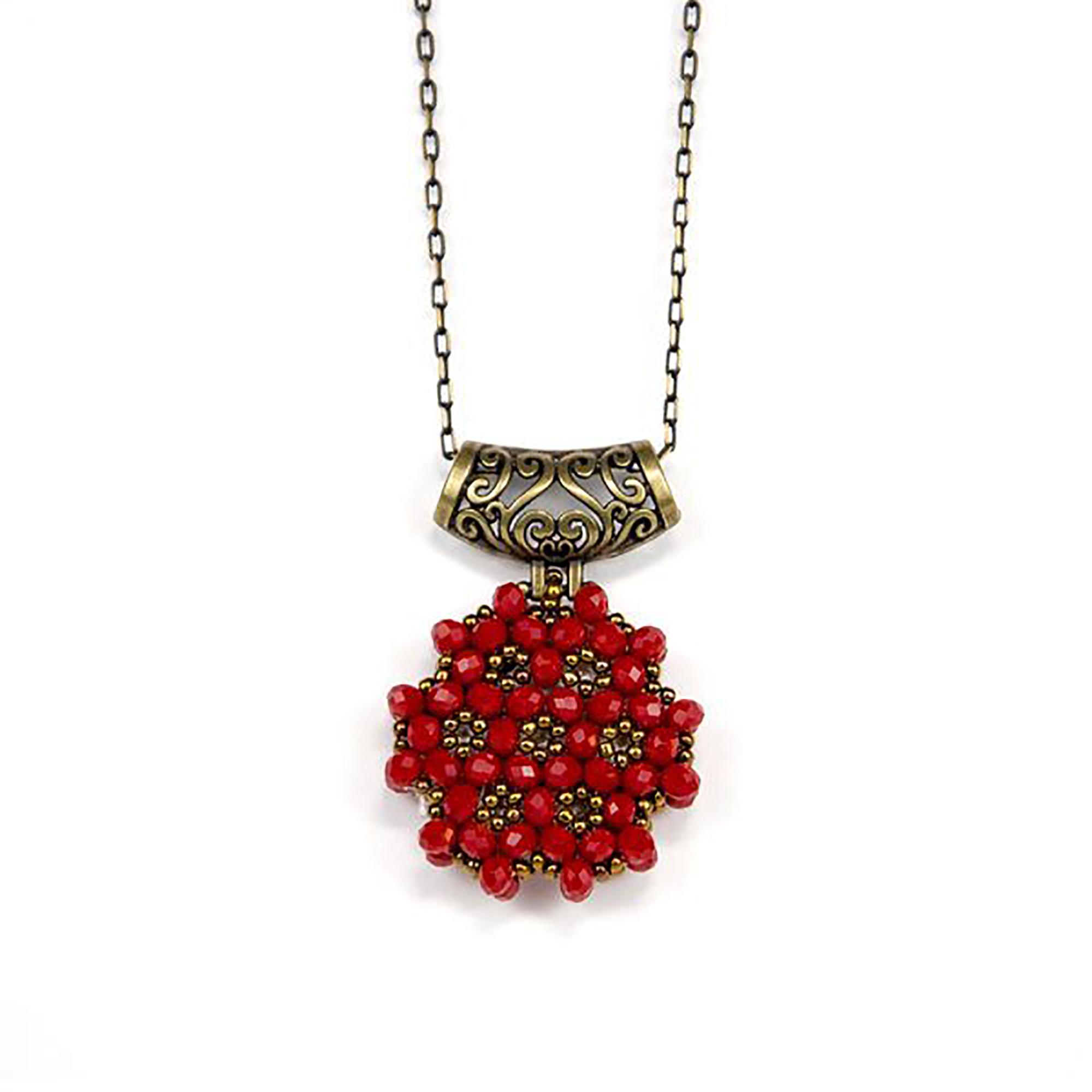 Perlenkette Cevsen (Rund - Rot)