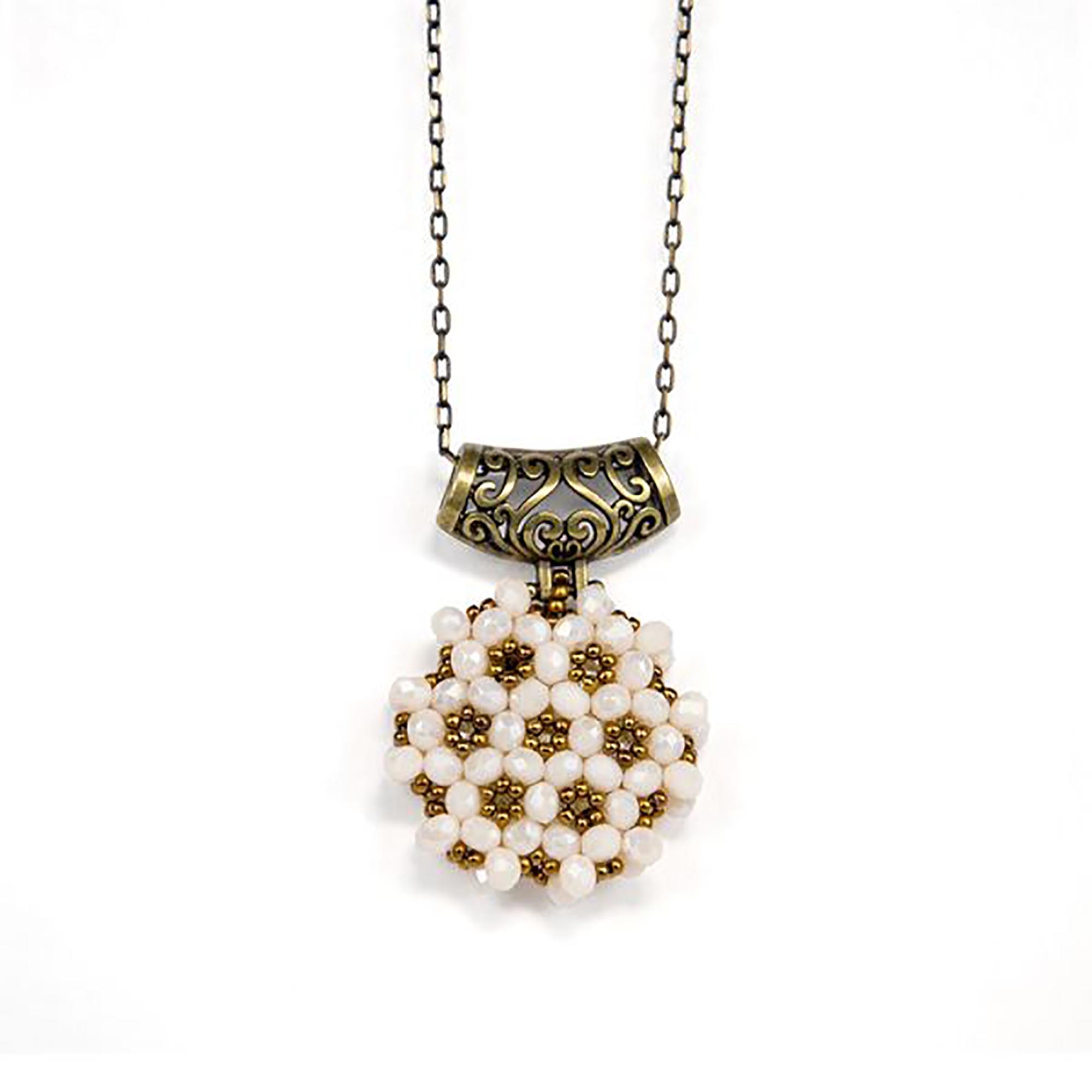 Perlenkette Cevsen (Rund - Weiss)